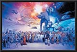 Star Wars - Galaxy 22x34 Dry Mounted Poster Wood Framed
