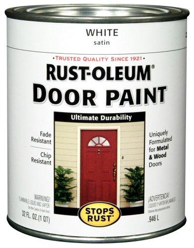 Rust-Oleum 238311 Door Paint, White, 1-Quart (White Paint Outdoor Wood compare prices)
