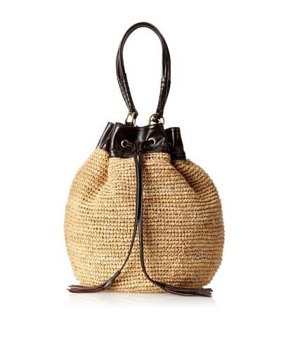 Florabella Women's Bristol Crochet Raffia Handbag, Natural/Brown