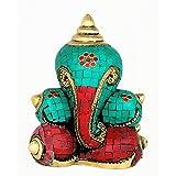 Redbag Brass Decorative Shankh Ganesha (18.42 Cm, 14.61 Cm, 10.16 Cm)
