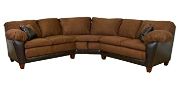 James 2-Pc Sectional Sofa in Mission Cinnamon Fabric