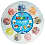 Original Gourmet Cream Swirl Lollipop Ring, 9 Count (Pack of 6)