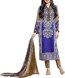 VIDA Women's Georgette Salwar Suit Material (Purple)