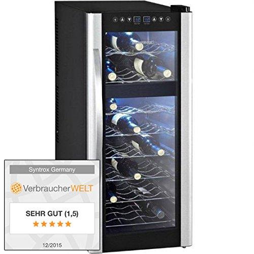 21 Flaschen 2 Zonen Digitaler Getränkekühlschrank Weinkühlschrank