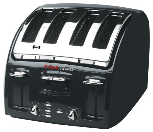 T-fal 533200 Classic Avante 4-Slice Toaster with Bagel Function, Black (Tfal Avante compare prices)