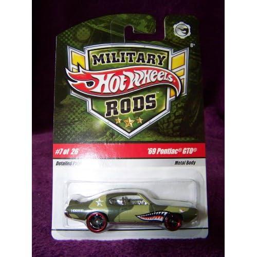Hot Wheels Military Rods Car #7/26   69 Pontiac GTO