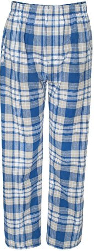 Boxercraft Adult Classic Flannel Lounge Pants – F24 – Royal / Silver – X-Large