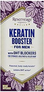 ReserveAge Keratin for Men with Biotin and Resveratrol, 60 Veggie Capsules
