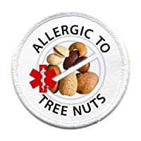 ALLERGIC to TREE NUTS Allergy Medical Alert 4 inch Sew-on Patch by Creative Clam