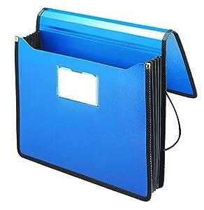 "Smead Poly Premium Wallet, 5-1/4"" Expansion, Letter Size, Navy Blue (71503)"
