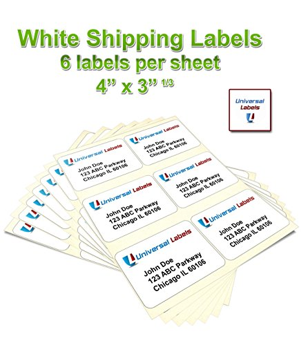 Order 600 universal labels 6 up labels 4 x in for Universal laser printer labels template