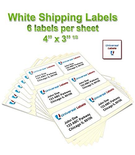 universal laser printer labels template - order 600 universal labels 6 up labels 4 x in