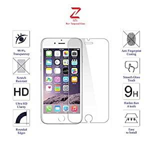 iPhone 6S Screen Protector, IZU® Pro Tempered Glass Screen Protector For iPhone 6 6S-Pack of 1 [3D Touch Compatible] 0.2mm Screen Protection Case Fit 99% Touch Accurate -Clear