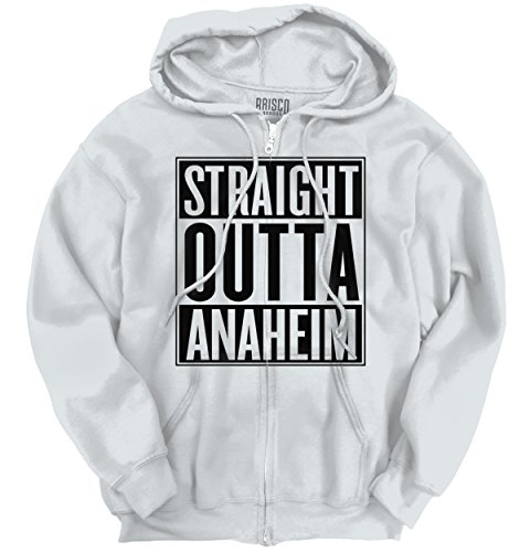 Straight Outta Anaheim, CA City Funny Movie T Shirts Gift Idea Zipper Hoodie (Party City In Anaheim Ca)