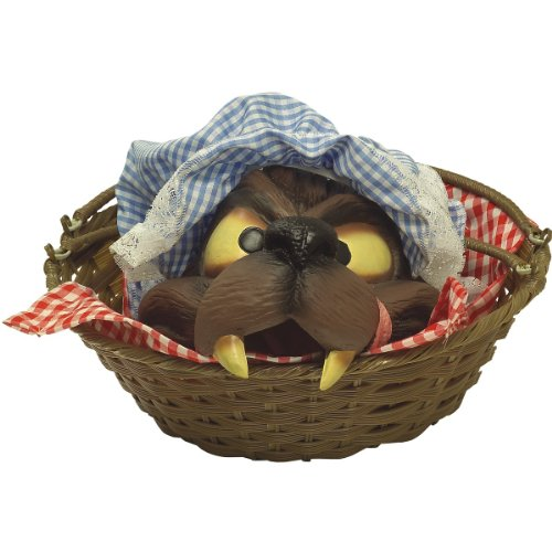 Big Bad Wolf Head in Basket Outfit Prop