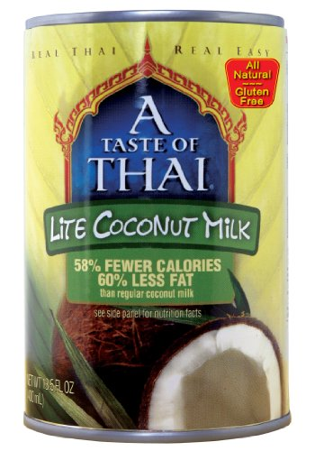 A Taste of Thai Lite Coconut Milk, 13.5-Ounce Cans (Pack of 12) by A Taste of Thai
