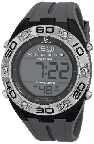 Joshua & Sons Homme JS66GY Gray Digital Montre