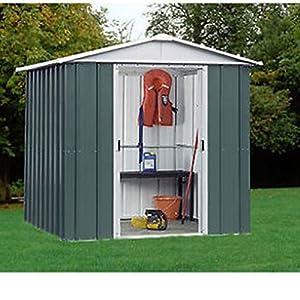 Yardmaster 6x6 metal garden shed 10 year guarantee apex for Garden shed 6x6