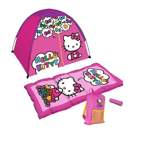 Hello-Kitty-4-Piece-Fun-Camp-Kit-tent-and-sleeping-bag-set