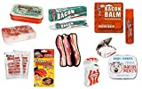 Bacon Lover's Gift Set - Toothpaste, Mints, Dental Floss, Lip Balm, Soap, Candy & Air Freshener (Bundle of 7 Bacon Gift Items)
