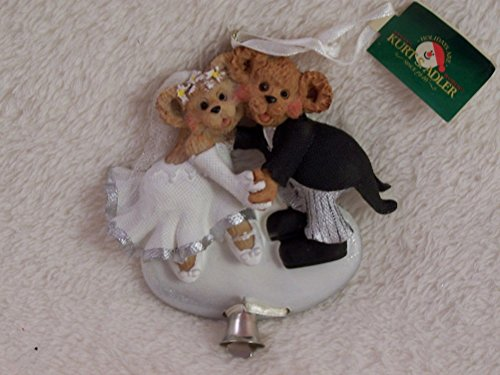 Kurt S. Adler Bride and Groom Bears Ornament W9666 Wedding Gift Christmas Couple