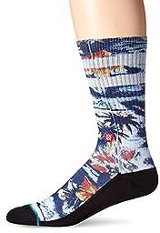 Stance Men\'s Leeward Classic Crew Sock, Navy, Large