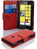 Cadorabo ! Etui Housse pour Nokia Lumia 520 Portefeuille en ROUGE CERISE
