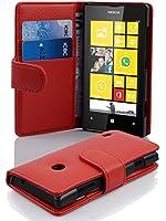 Cadorabo ! Etui Housse Coque en simili-cuir BooK Style pour Nokia Lumia 520 in rouge