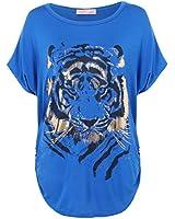 KRISP® - T-Shirt Imprimé Manche Chauve- Souris