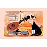 Rosina Wachtmeister Musical Cat Linen Tea Towel