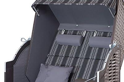 Strandkorb Sylt PE Onyx - Dessin 423 Strandkörbe fertig aufgebaut von DeVries bei Gartenmöbel von Du und Dein Garten