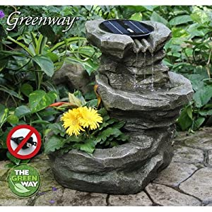 Amazon Com Sutherland Solar Waterfall Fountain Free