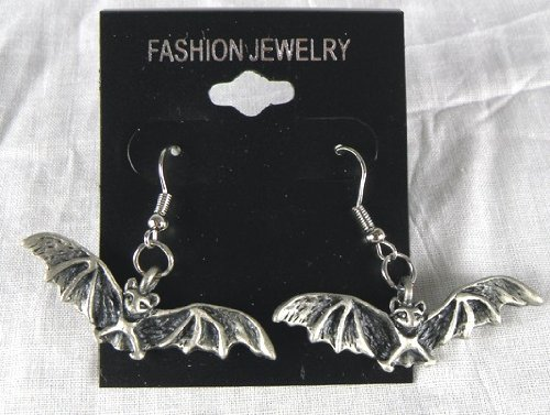 Gothic BAT Earrings Vampire Deathrock Halloween 80s Lestat