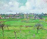 Vivid Prints on Canvas Without Frame ,Camille Pissarro-Landscape at Bazincourt,1884, is for Home Decoration, or Wall Art Decoration, Home Decor. There are fiber canvas, cotton canvas, or linen canvas. And it is also the best gift for your rel...
