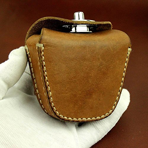 Best Buy! Handmade Thick Genuine Leather Ammo Pouch Storage Bag for Slingshot Balls Rifle Pellets