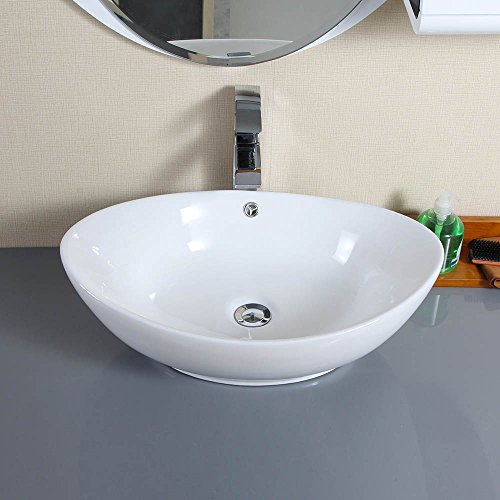 Perfect LAYKOR White Ceramic Bathroom Sink With Popup Drain TC