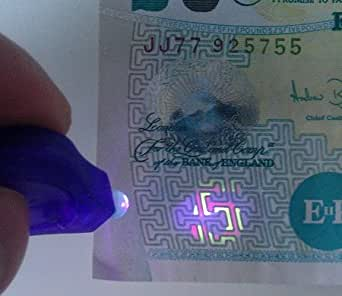 UV 365nm Black Light Keyring - Spot Fake Counterfeit Money & Cards. Buy from Campells for quick delivery from the UK.