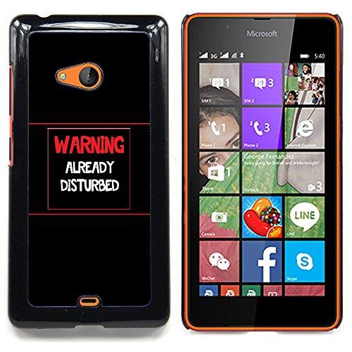 Stuss Case / Premio Sottile Slim Cassa Custodia Case Bandiera Cover Armor PC Aluminium - Attenzione - Già DisturbedAdvertencia - Ya Disturbed - Nokia Lumia 540