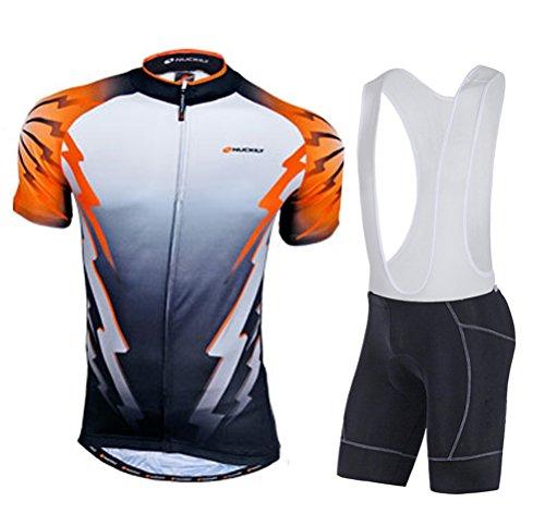 Sponeed Bicycle Jersey Spandex Cycle Shirt Lycra Bib Shorts for Men Asia L/US M Orange Multi Lycra Cycle Shorts