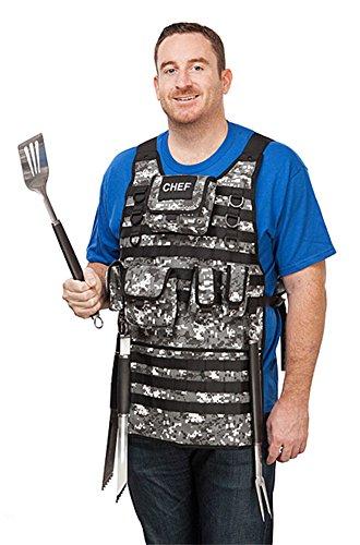 Tactical Chef BBQ Apron - Digital Urban Camo