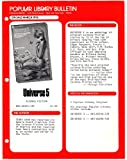 img - for 1976 Popular Library Promotional Bulletin for Universe 5 (science fiction ephemera) book / textbook / text book