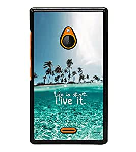 iFasho life is short live it Back Case Cover for Nokia X2