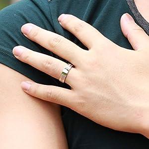 "Men's Women's Stainless Steel ""Forever Love"" Couple Lover's Band Rings Wedding Engagement Promise Ring, Size 10 for Men by TY"