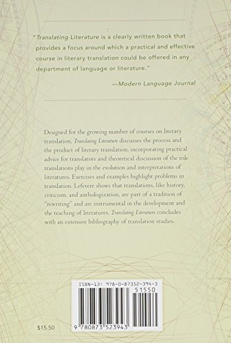 Translating Literature: Practice and Theory in a Comparative Literature Context