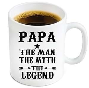 Amazon.com: Papa Ceramic Coffee Mug - Funny Father's Day Gift For Dad