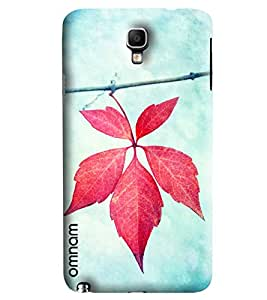 Omnam Pink Leaf Pattern Printed Designer Back Cover Case For Samsung Galaxy Note 3 Neo