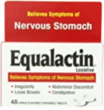 Equalactin Citrus Flavored Tablets for Irritable Bowels 48 ea(Pack of 3)