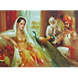 """Dolls Of India """"Entertaining The Princess"""" Reprint On Paper - Unframed (28.57 X 20.96 Centimeters)"""