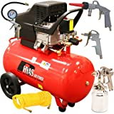 Rhyas 50L Litre Air Compressor 2.5HP + FREE 5 Piece Kit 9.5cfm 115psi