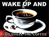 ACRYLIC FRIDGE MAGNET 4116 WAKE UP AND SMELL THE COFFEE BRAND NEW - FRIDGE MAGNET